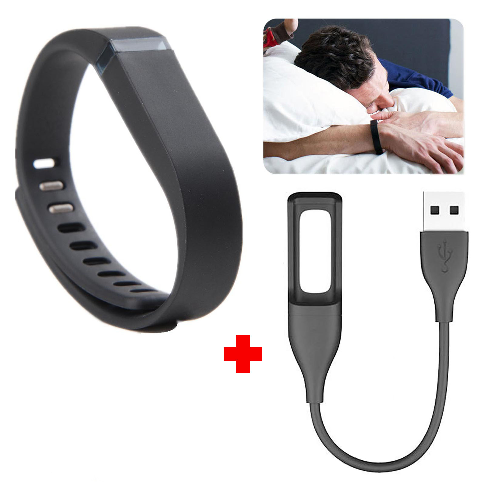 EEEKit 2in1 Kit for Fitbit Flex Wireless Wristband, Replacement Wrist Band, Usb Charging Cable Cord