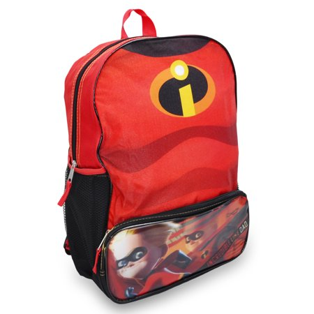 """Incredibles """"Chest"""" 16"""" Backpack with 1 Lower Pocket & 2 side mesh pockets - image 1 of 2"""