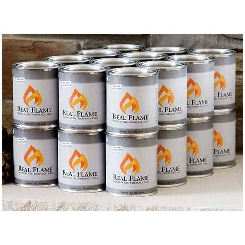 Club Pack of 24 Cans of Gel Fuel for Ventless Fireplaces - 13 Oz