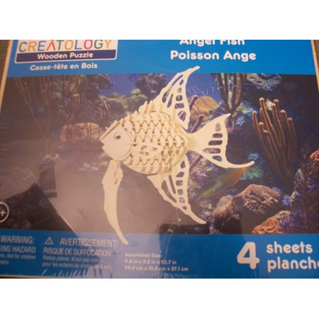 Wooden Puzzle ~ Angel Fish, Creatology Wooden Puzzle By Creatology Ship from - Creatology Halloween Kids Craft