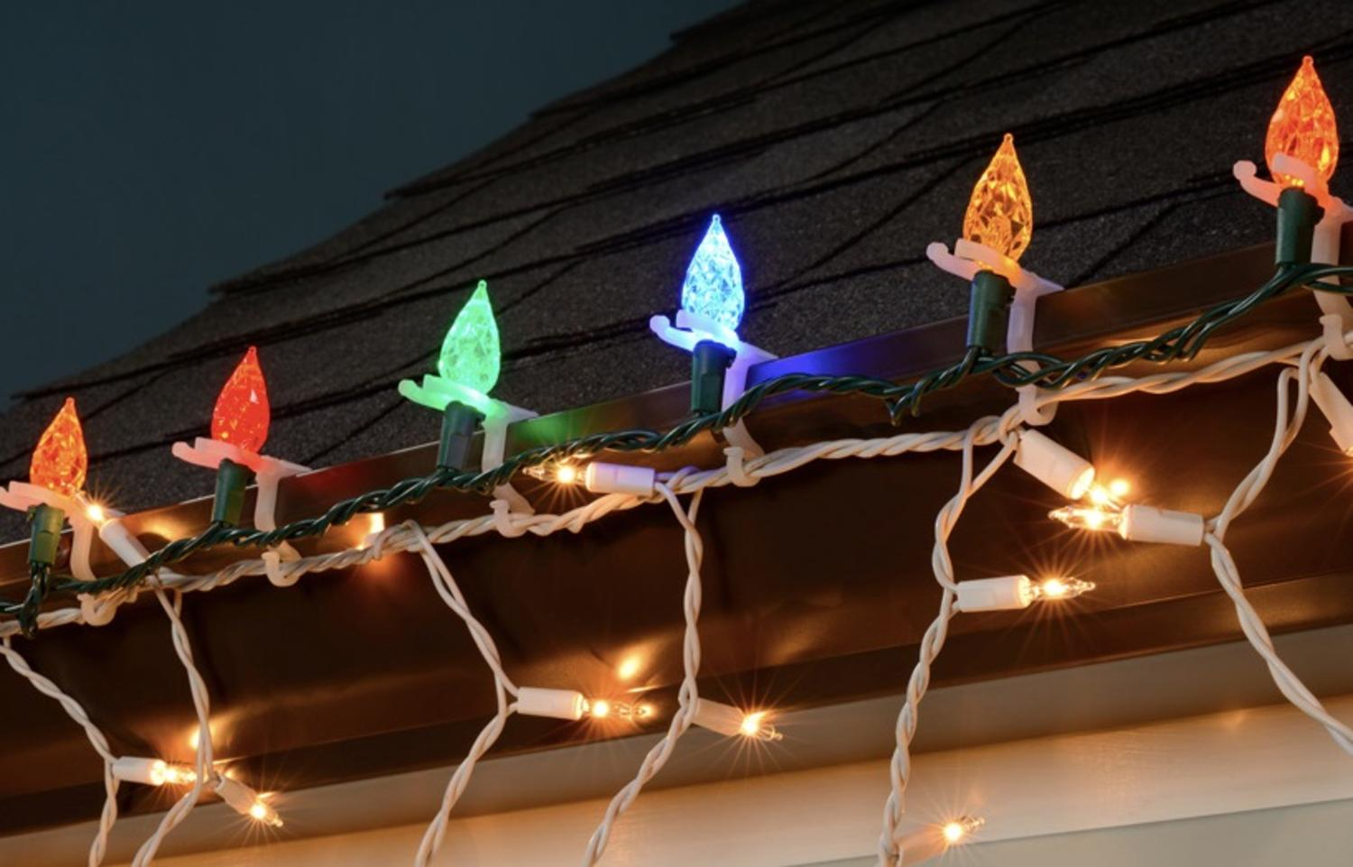 50ct All-Purpose Indoor/Outdoor Christmas Light Clips - Walmart.com