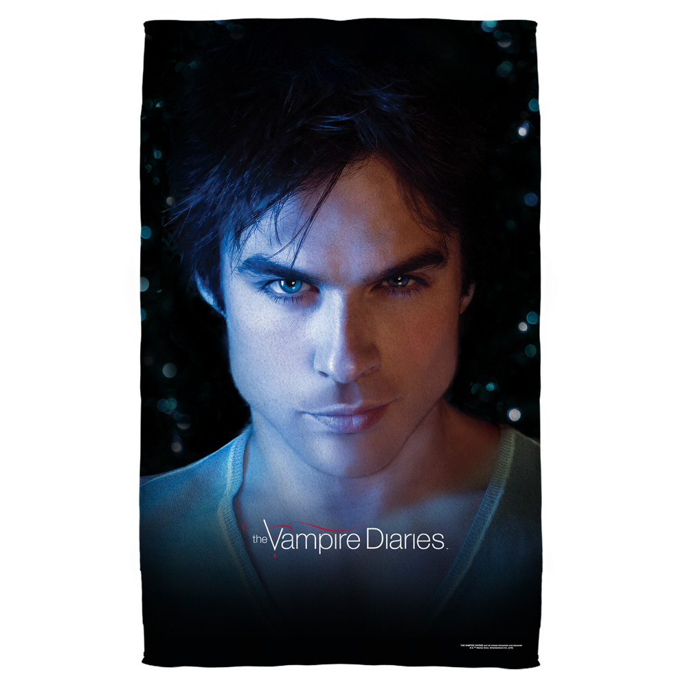 Vampire Diaries Damon Eyes Bath Towel White 27X52