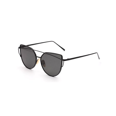 049cfb5c0d 2018 Fashion Cat Eye Sunglasses for Women Rose Gold Mirror Eyewear Vintage  Brand Designer Metal Reflective flat lens Sun Glasses - Walmart.com