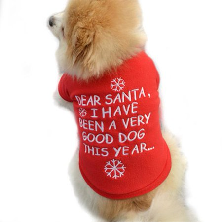 Christmas Pet Puppy Autumn Winter Warm Pullover High-grade Embroidered Clothes - Pet Christmas Clothes