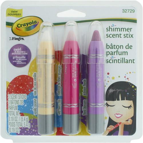 Crayola Shimmer Scent Stix, 3 count, 0.19 oz