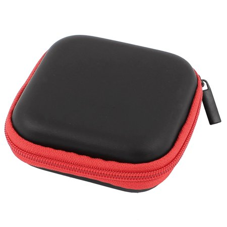 Earphone Cellphone Headphone Headset Earbuds Carrying Case Pouch Storage Red - image 1 de 1