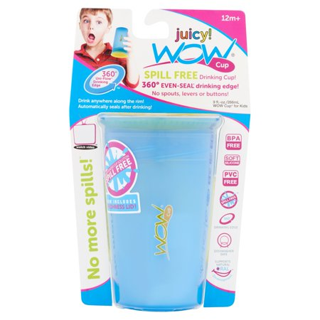 Wow Gear Juicy  Wow Cup For Kids 360 Spill Free Cup  Blue Yellow