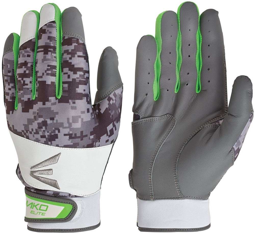 Easton Adult Mako Torq Elite Batting Gloves Green, Small