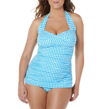 Polar Ware One Piece (Simply Slim Women's Slimming Shirred Glam Halter One-Piece Sheath Swimsuit)