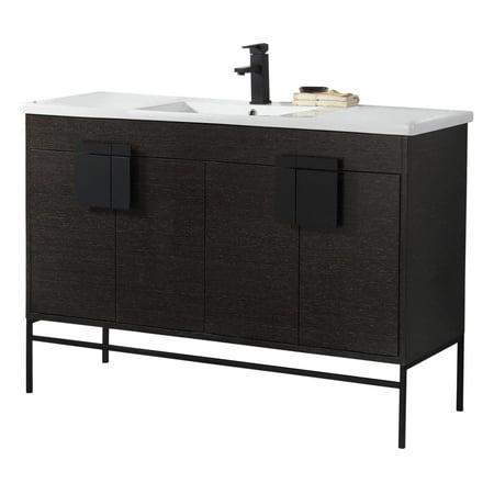 Modern Black Bathroom Vanity Set