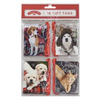 Holiday Time 16 Gift Tags, Pets
