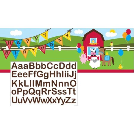 Access Farmhouse Fun Giant Party Banner With Stickers, 20