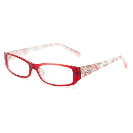 6f78a2d40b4 Readers.com The Nina Bifocal Floral Bifocal with Solid Colored Frame Front  Rectangle Reading Glasses - Walmart.com