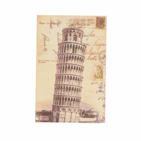 Cute Simulation English Dictionary Style Mini Safety Storage Box The Leaning Tower of Pisa Pattern Cover L