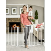 """Regalo Open Area Baby Gate, up to 76"""" with Walk Through Door"""