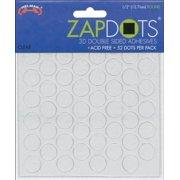 """Zapdots 3D Adhesive Dots-Clear Circles .5"""" 52/Pkg"""