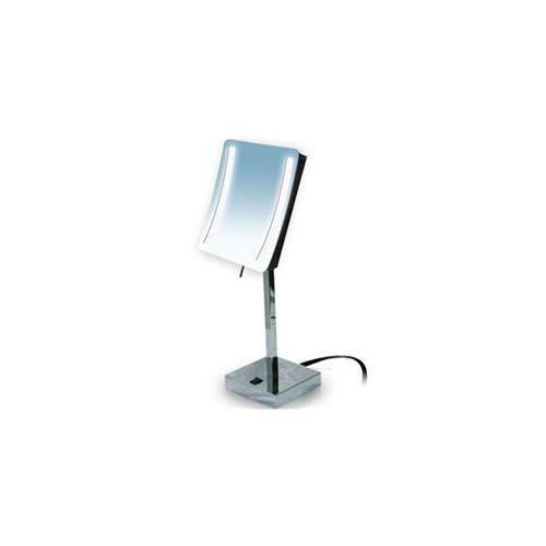 Rucci M871 3x Magnification Chrome Led Light Square Stand Mirror