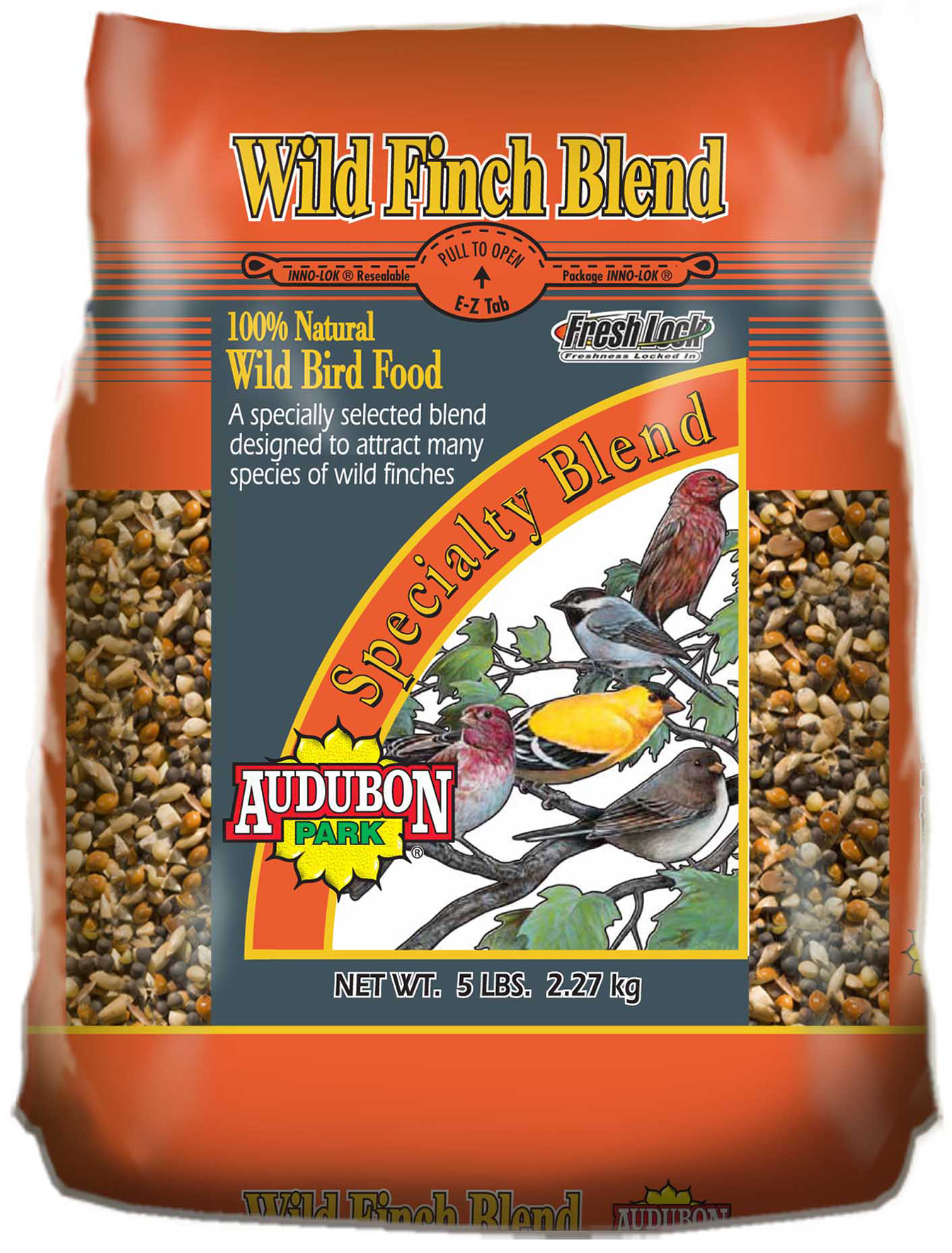 Audubon Park 10302 5 lb Wild Finch Blend Wild Bird Food by Global Harvest/woodinville