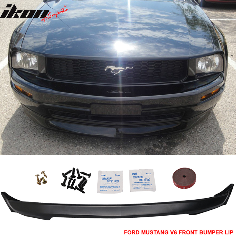 Fits 05-09 Ford Mustang V6 3C Front Bumper Lip Spoiler Unpainted - Urethane PU