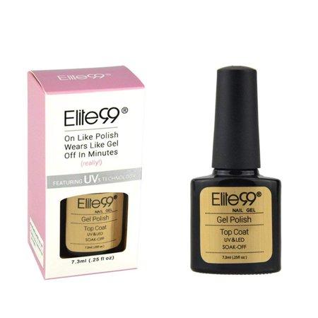 - Elite99 7.3ML Gel Nail Polish Base Top Coat Soak Off UV LED Varnish Gloss Manicure Long Lasting Lacquer