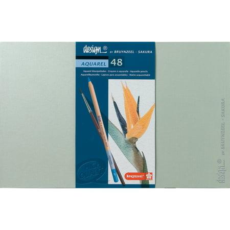 Buynzeel Design Aquarel Pencil Set, 48-Color