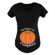 Stop Staring At My Pumpkin MATERNITY SCOOP NECK TEE