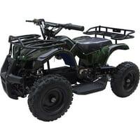 MotoTec 24V Kids Battery Powered ATV Four Wheeler V4 Camo Green