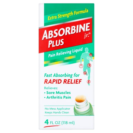 Absorbine Jr. Plus Extra Strength Formula Pain Relieving Liquid, 4 fl - Back Pain Formula