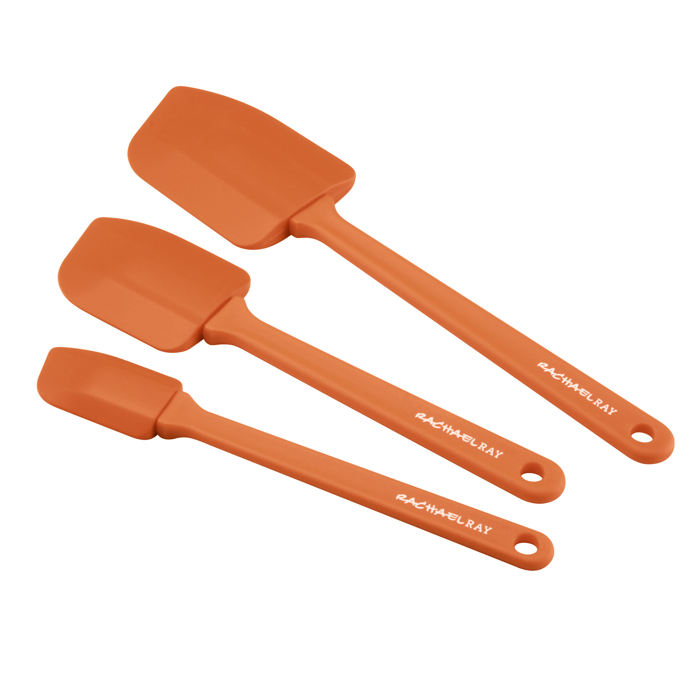 Rachael Ray Tools & Gadgets Lil' Devils 3-Piece Silicone Spoonula Set, Orange