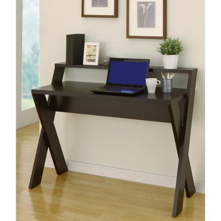 Furniture of America Intersecting Home/ Office Desk Cappuccino
