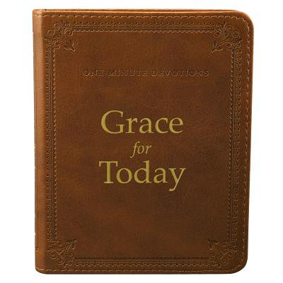 Todays Christian Rock - One Minute Devotions Grace for Today LuxLeather