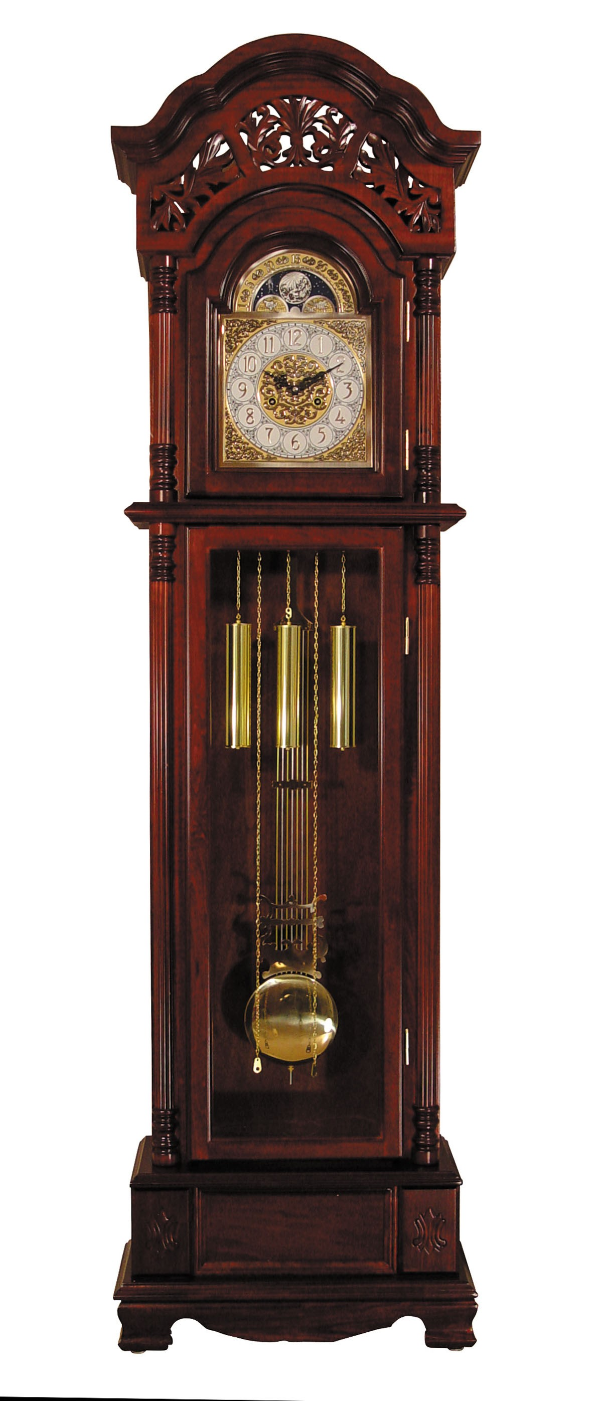01430 Plainville Grandfather Clock Cherry by