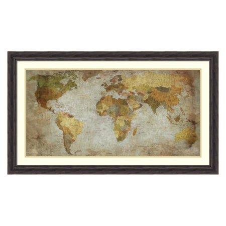 Amanti Art Framed Print - Anima Mundi Map by Joannoo (Mundi Map)