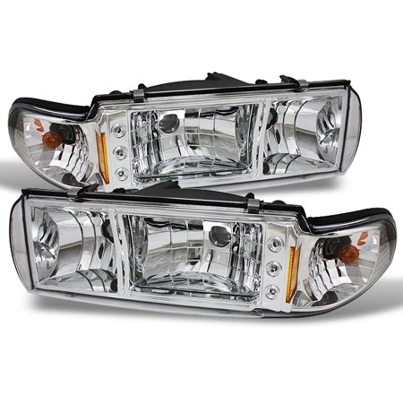- Fit 91-96 Chevy Impala Caprice 1PC LED Headlights/Corner Signal Lamps Left+Right
