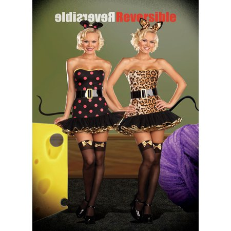 Cat And Mouse Costume (Sexy Adult Dreamgirl Cat/Mouse Costume Dreamgirl)