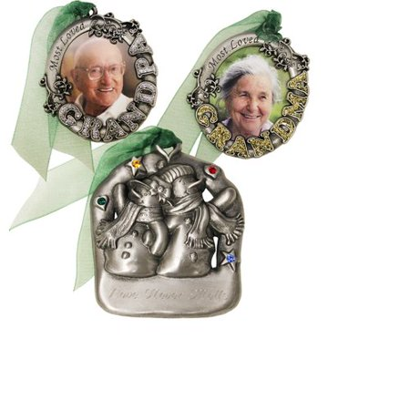 Gloria Duchin 3pc Grandparents Ornament Set