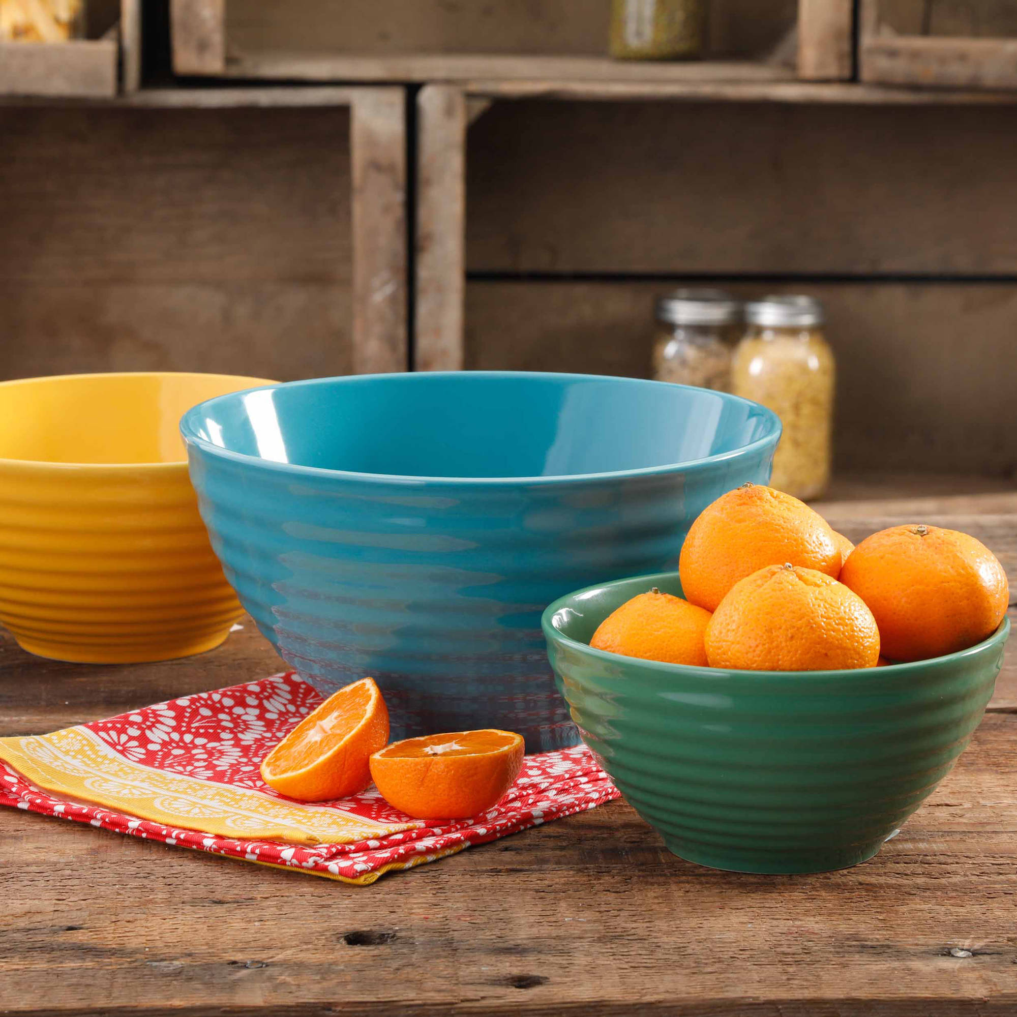 The Pioneer Woman Flea Market 3-Piece Mixing Bowl Set by Gibson Overseas Inc