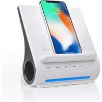 Azpen DockAll D108 Wireless Fast Charging Sound Hub, White
