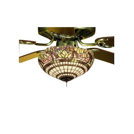 - Meyda Tiffany 12706 Tiffany Three Light Down Lighting Fan Light Kit from the Grapevine Collection