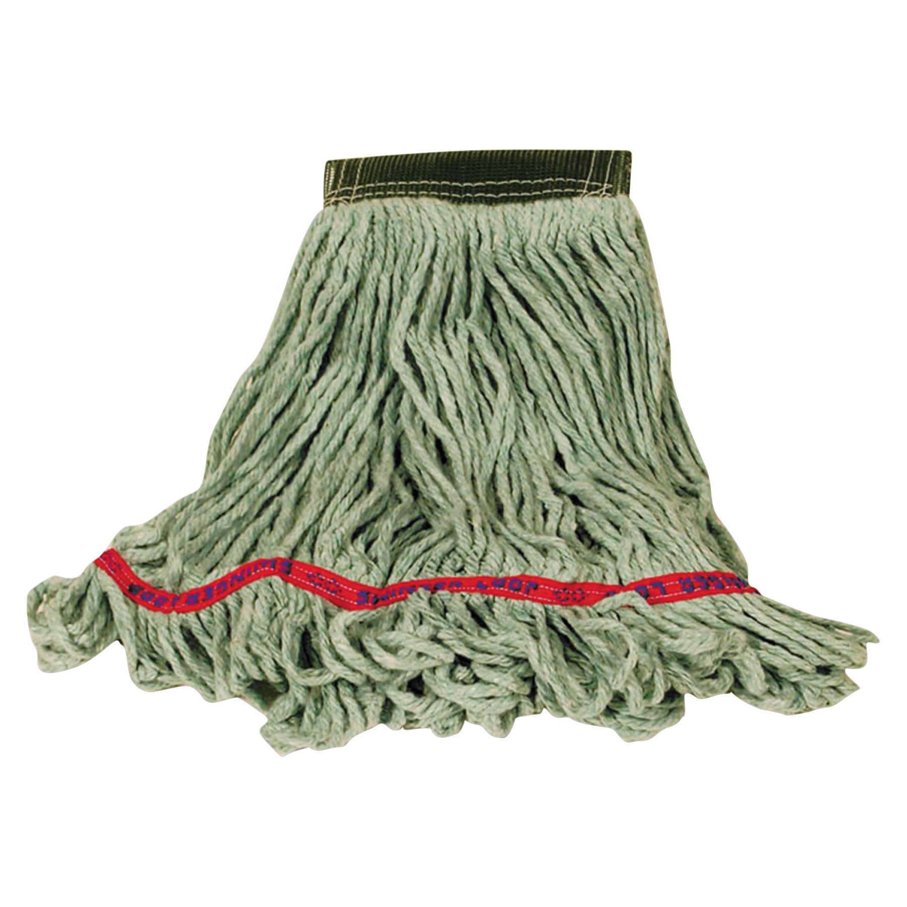 Rubbermaid Commercial Super Stitch Blend Mop, Cotton/Synthetic, Small, Green
