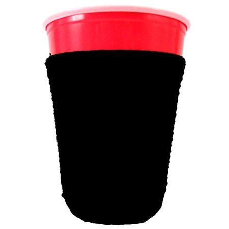 Blank Neoprene Solo Cup Collapsible Coolie (1, Black) - Custom Neoprene Koozies