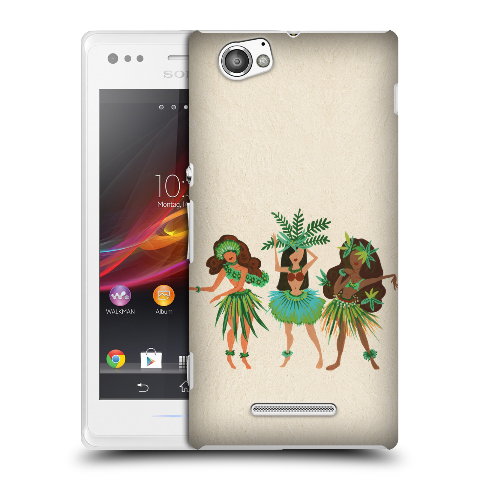 OFFICIAL CAT COQUILLETTE WATERCOLOUR HARD BACK CASE FOR SONY PHONES 3