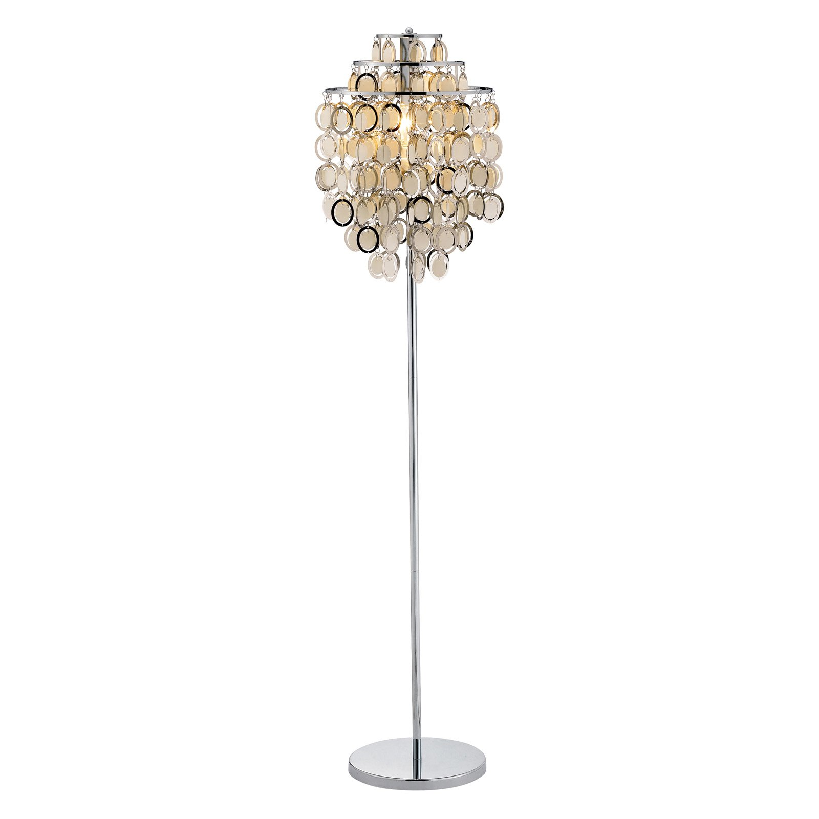 Adesso Shimmy Floor Lamp, Chrome Finish by Generic