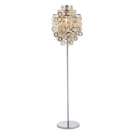 Adesso Shimmy Floor Lamp  Chrome Finish