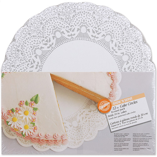 "Wilton Show 'N Serve"" 12"" Cake Boards, Circle 8 ct. 2104-1176"