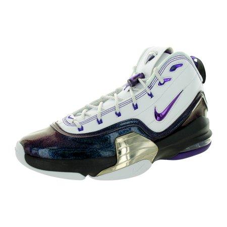 Cheap Quality Nike Men's Pippen 6 Basketball Shoes Cheap - White/Crt Prpl/Mtllc Slvr