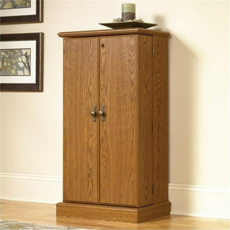 Bowery Hill Multimedia Storage Cabinet in Carolina Oak (Multimedia Cabinet Storage)