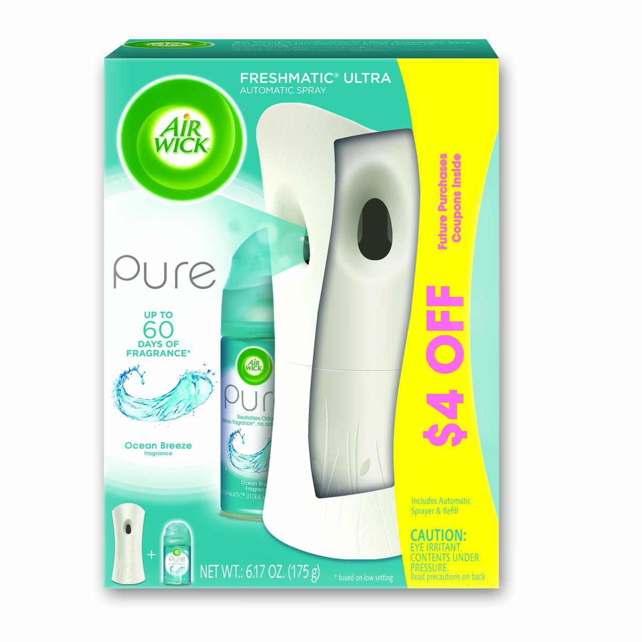 Air Wick Pure Freshmatic Automatic Spray Kit (Gadget + 1 Refill), Ocean Breeze, Air Freshener