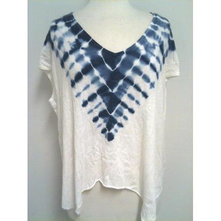 Free People Womens Boho Tie Dye A Line T Shirt Top