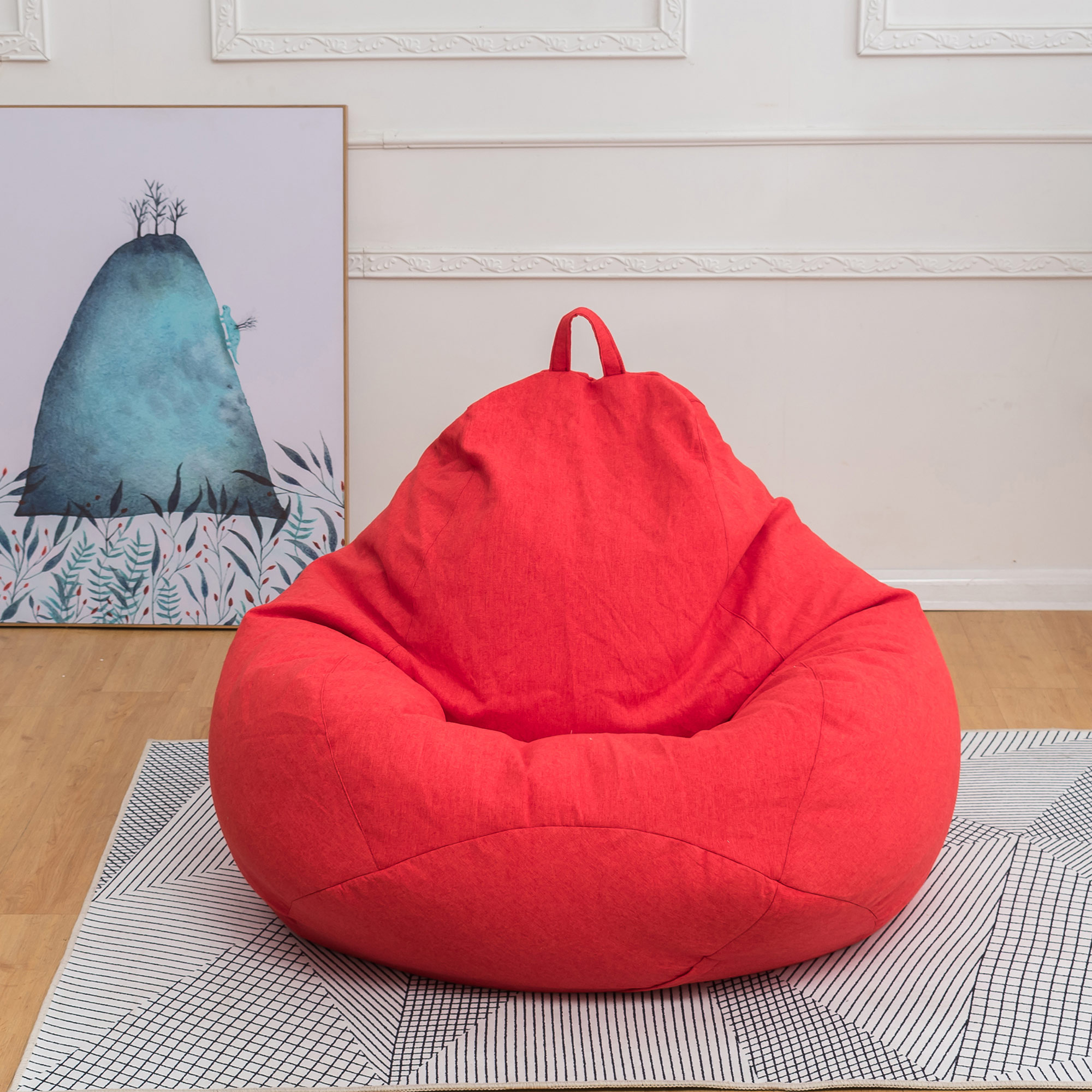 SAYFUT Beanbag Seat Chair with Removable Washable Seat ...